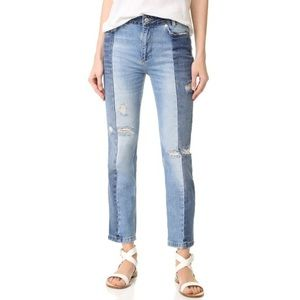 Free People Two Toned Denim Jeans